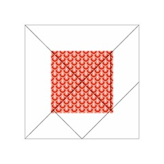 Awesome Retro Pattern Red Acrylic Tangram Puzzle (4  x 4 )