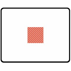 Awesome Retro Pattern Red Double Sided Fleece Blanket (Medium)