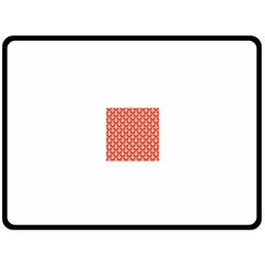 Awesome Retro Pattern Red Double Sided Fleece Blanket (Large)