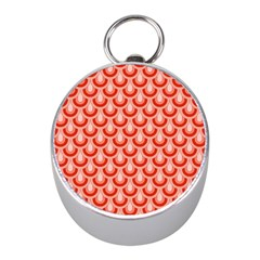 Awesome Retro Pattern Red Mini Silver Compasses