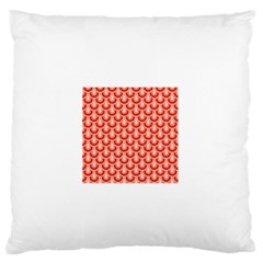 Awesome Retro Pattern Red Standard Flano Cushion Cases (one Side)