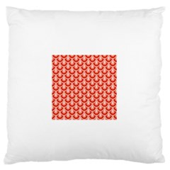 Awesome Retro Pattern Red Large Flano Cushion Cases (one Side)