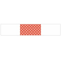 Awesome Retro Pattern Red Flano Scarf (Large)