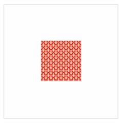 Awesome Retro Pattern Red Large Satin Scarf (Square)