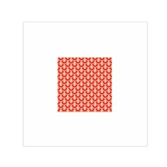 Awesome Retro Pattern Red Small Satin Scarf (Square)