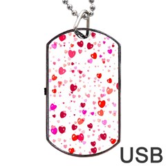 Heart 2014 0601 Dog Tag Usb Flash (two Sides)