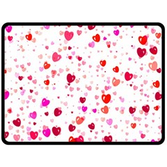 Heart 2014 0601 Double Sided Fleece Blanket (large)