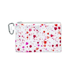Heart 2014 0601 Canvas Cosmetic Bag (S)
