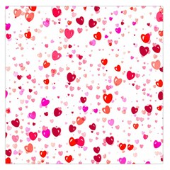 Heart 2014 0601 Large Satin Scarf (Square)