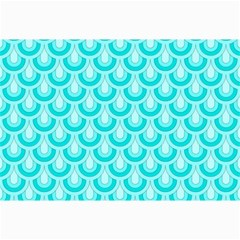 Awesome Retro Pattern Turquoise Collage 12  x 18