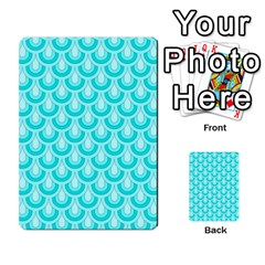 Awesome Retro Pattern Turquoise Multi Purpose Cards (rectangle)