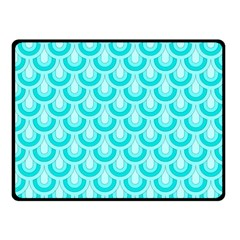 Awesome Retro Pattern Turquoise Fleece Blanket (Small)