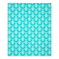 Awesome Retro Pattern Turquoise Shower Curtain 60  x 72  (Medium)