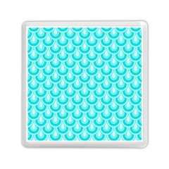 Awesome Retro Pattern Turquoise Memory Card Reader (Square)