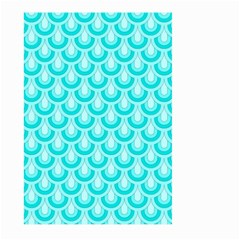 Awesome Retro Pattern Turquoise Large Garden Flag (Two Sides)
