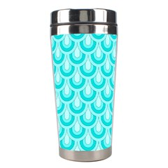 Awesome Retro Pattern Turquoise Stainless Steel Travel Tumblers