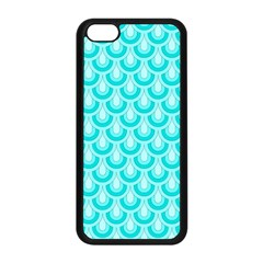 Awesome Retro Pattern Turquoise Apple Iphone 5c Seamless Case (black)