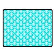 Awesome Retro Pattern Turquoise Double Sided Fleece Blanket (small)