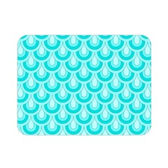 Awesome Retro Pattern Turquoise Double Sided Flano Blanket (mini)