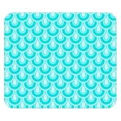 Awesome Retro Pattern Turquoise Double Sided Flano Blanket (Small)