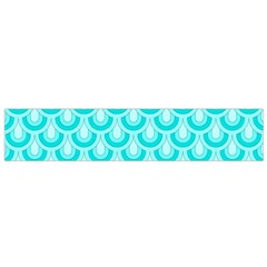 Awesome Retro Pattern Turquoise Flano Scarf (small)