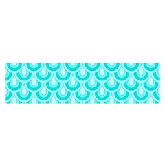 Awesome Retro Pattern Turquoise Satin Scarf (oblong)