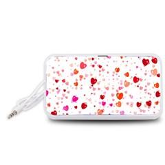 Heart 2014 0602 Portable Speaker (White)