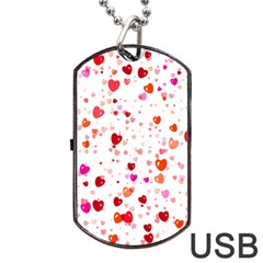 Heart 2014 0602 Dog Tag Usb Flash (one Side)
