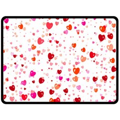 Heart 2014 0602 Double Sided Fleece Blanket (large)