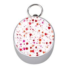 Heart 2014 0602 Mini Silver Compasses