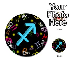 Sagittarius Floating Zodiac Sign Playing Cards 54 (Round)