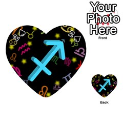 Sagittarius Floating Zodiac Sign Playing Cards 54 (heart)
