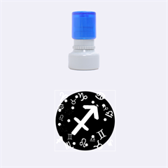 Sagittarius Floating Zodiac Sign Rubber Round Stamps (Small)