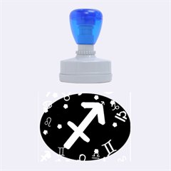 Sagittarius Floating Zodiac Sign Rubber Oval Stamps