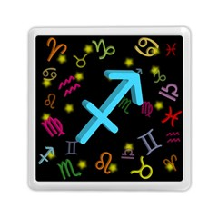 Sagittarius Floating Zodiac Sign Memory Card Reader (Square)