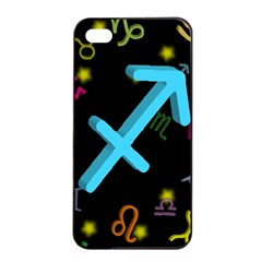 Sagittarius Floating Zodiac Sign Apple iPhone 4/4s Seamless Case (Black)