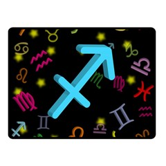 Sagittarius Floating Zodiac Sign Double Sided Fleece Blanket (Small)