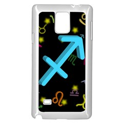 Sagittarius Floating Zodiac Sign Samsung Galaxy Note 4 Case (white)