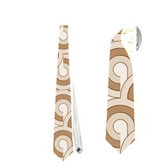 Retro Mirror Pattern Brown Neckties (Two Side)