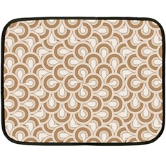Retro Mirror Pattern Brown Fleece Blanket (Mini)