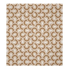 Retro Mirror Pattern Brown Shower Curtain 66  x 72  (Large)