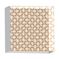 Retro Mirror Pattern Brown 5  x 5  Acrylic Photo Blocks