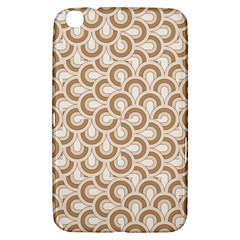 Retro Mirror Pattern Brown Samsung Galaxy Tab 3 (8 ) T3100 Hardshell Case