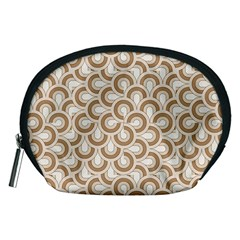 Retro Mirror Pattern Brown Accessory Pouches (medium)