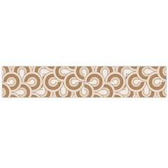 Retro Mirror Pattern Brown Flano Scarf (Large)