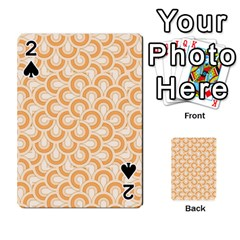 Retro Mirror Pattern Peach Playing Cards 54 Designs