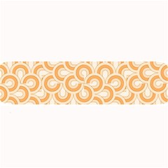 Retro Mirror Pattern Peach Large Bar Mats