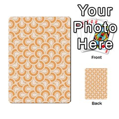 Retro Mirror Pattern Peach Multi-purpose Cards (Rectangle)