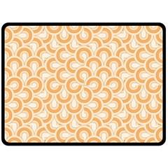 Retro Mirror Pattern Peach Fleece Blanket (Large)