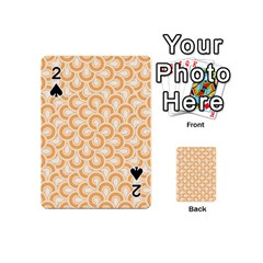 Retro Mirror Pattern Peach Playing Cards 54 (Mini)